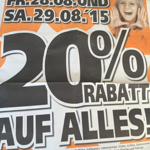 [offline][lokal] Globus-Baumarkt -20% Aktion Königsbrunn