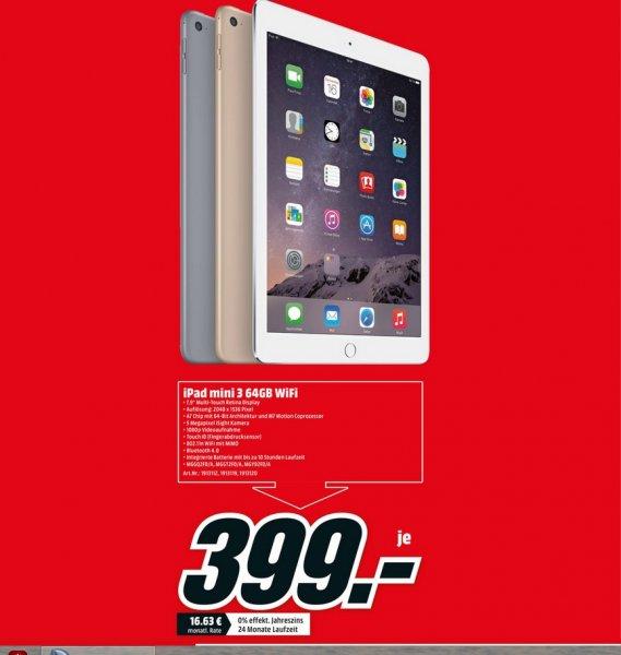 (LOKAL Köln City)Apple iPad mini 3 64GB WiFi für 399€ @ Mediamarkt (am Dom)
