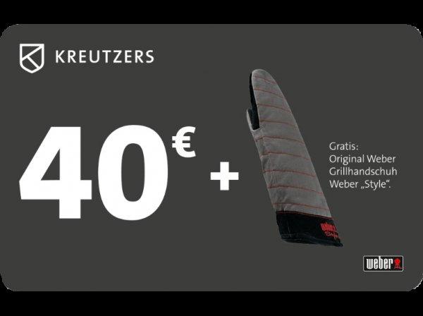 """[Saturn Online] 40€ KREUTZERS Gutschein + Original Weber Grillhandschuh """"Style"""""""