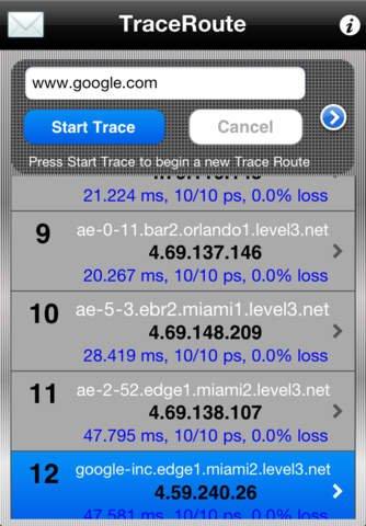 Trace Route für iOS kostenlos (Für IT-Netzwerker)