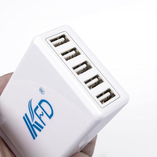 [Amazon-Prime] 5-Port USB Ladegerät  2.4A pro Port / 5V 8A 40W