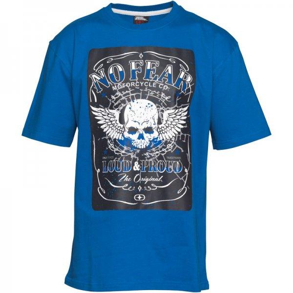 No Fear Junior T-Shirt Königsblau Für 6,36€ auch andere T-Shirts ab 3,95€    ((mandmdirect))