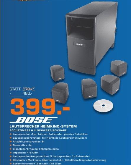 [Lokal Saturn Salzburg Österreich] Bose Acoustimass 6 Series III Home Cinema Lautsprecher-System schwarz für 399,-€