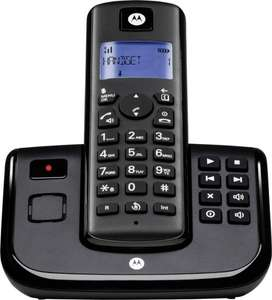 digitalo, Motorola Schnurloses Telefon analog T211 Anrufbeantworter Schwarz, 18€, Idealo 24€