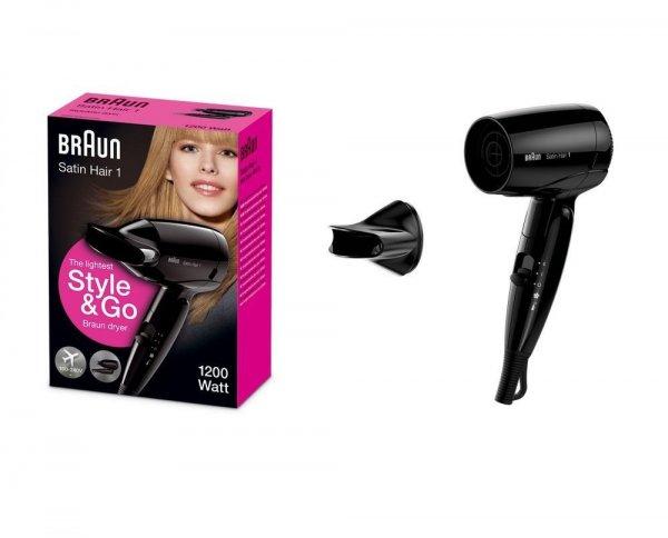 "Braun™ - Haartrockner ""Satin Hair 1 HD130 Style&Go"" (1200W,klappbar) ab €9,91 [@Redcoon.de]"