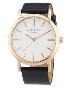 Mike Ellis New York Damen-Armbanduhr Analog Quarz Kunstleder L2979/4