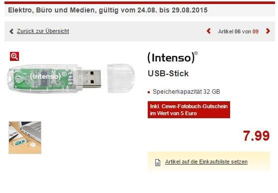 Intenso USB Stick - 32GB -Kaufland