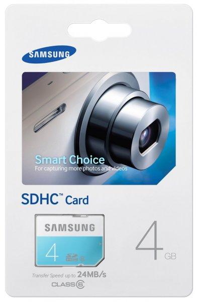 [Amazon-Plusprodukt] Samsung Memory 4GB Standard SDHC Class 6 Speicherkarte Memory Card (bis zu 24MB/s Transfergeschwindigkeit)