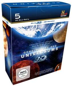 [Amazon-Prime]Geheimnisse des Universums - Die große History 3D-Box (Limited Edition, exklusiv bei Amazon.de) [5x Blu-ray 3D + 2D Version]
