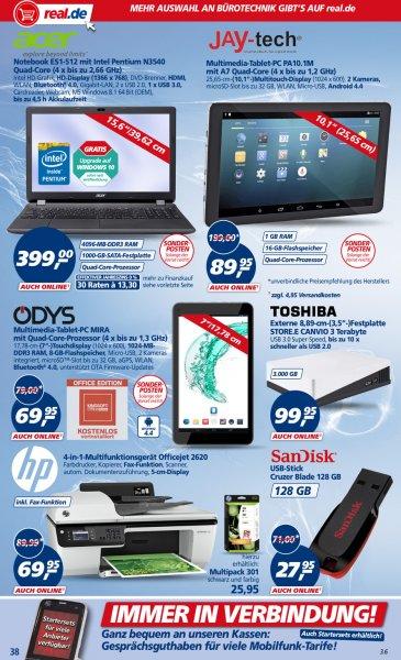 Sandisc Cruzer Blade 128GB für 27,95€ bei real