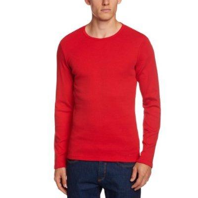 [Amazon-Plusprodukt]ESPRIT Herren Slim Fit Langarmshirt 993EE2K904 Nur XXL Rot