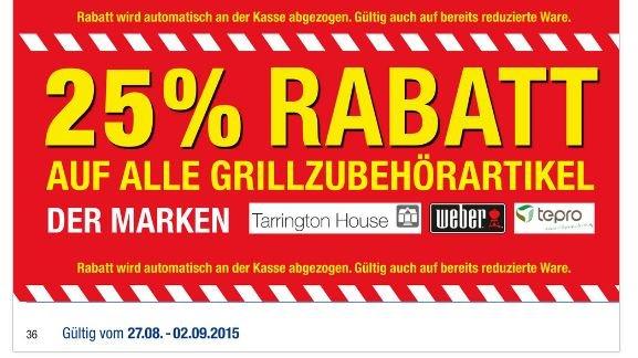 [Metro - Bundesweit] 25% auf Weber Grillzubehör