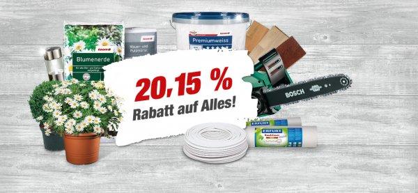 [LOKAL] Villingen-Schwenningen - 20,15% auf Alles bei Toom Baumarkt + Angebote (wie in Oberursel)
