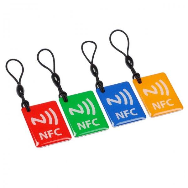 NXP Ntag203 144 Bytes 13.56MHz Smart NFC Tags für Smartphones - Red + Green + Blue + Orange (4 Stück) bei Allbuy