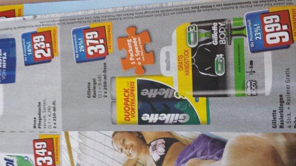 Gillette Rasiergel für empfindliche Haut bei Rewe Köln ggf Bundesweit
