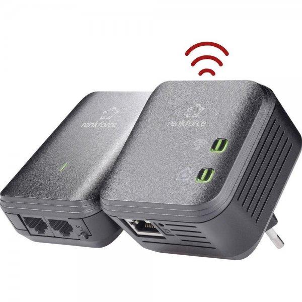 Powerline WLAN Starter Kit 500 MBit/s Renkforce PL500D WiFi baugleich Devolo bei Conrad