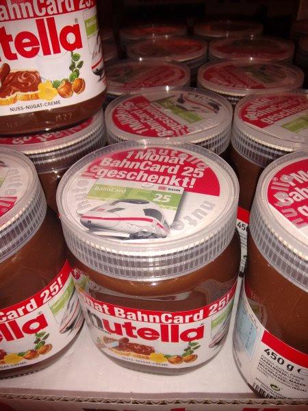 25% Rabatt mit der Bahncard 25 im Nutella Glas (Lokal in Hattersheim ?)
