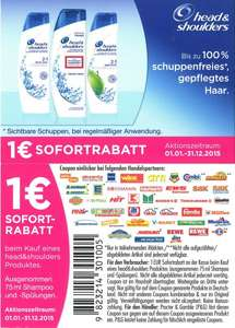 [NETTO] Head & Shoulders Produkte für 99 ct !