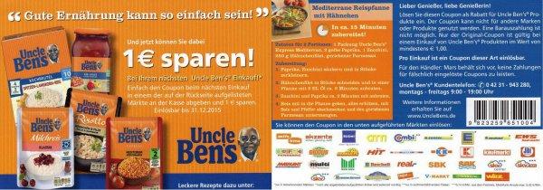 [REAL] Oncle Ben's Reis (verschiedene Sorten und Saucen) für 17ct!