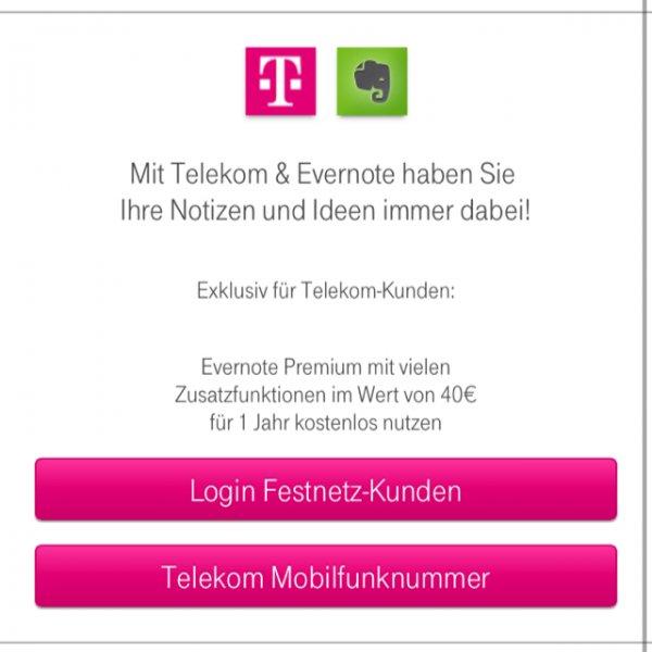 Evernote 1 Jahr gratis für alle T-Mobile (und Telekom) -Kunden gratis