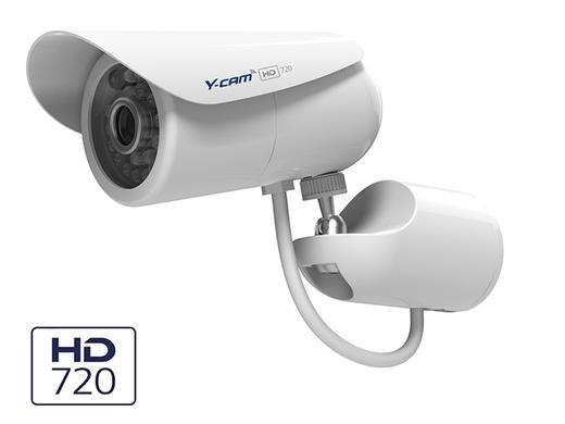 [Ibood] Y-cam Bullet HD 720 Generation 2 Überwachungskamera (Infrarot-Nachtsicht, Aufnahme auf microSD, NAS-kompatibel, Power-Over-Ethernet, ONVIF, Bewegungserkennung, Benachrichtigungsfunktion) weiß für 105,90€ inkl. V