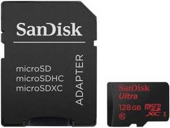 [Amazon] SanDisk Ultra 128GB microSDXC Class 10 Speicherkarte (UHS-I, inkl. SD Adapter, bis zu 48MB/s lesen)