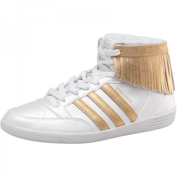 adidas Neo Damen Hi-Tops Weiß/Gold Sneaker