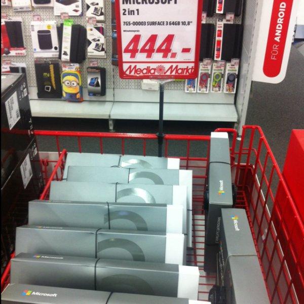 [Media Markt StuttgartHBF] Surface 3 für 444 EUR
