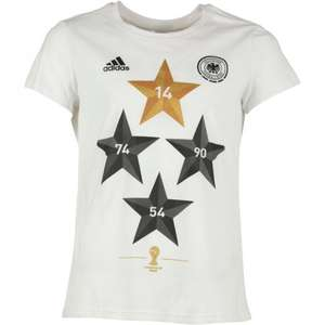 adidas Damen DFB Deutschland World Cup Winner T-Shirt Weiß