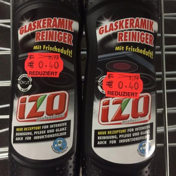 0,40€ Glaskeramik Reiniger IZO [Kaufland Velbert]