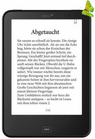 Tolino Vision 2 für 99 € von buecher.de  ohne Schnick Schnack