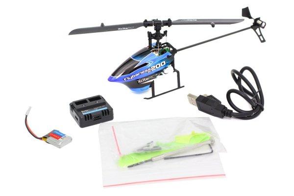 [Amazon.de]XciteRC 14000120 Ferngesteuerter RC Hubschrauber Flybarless 200 3D RTF 2.4 GHz mit M6i 6 Kanal Sendermodul FHSS, blau/schwarz