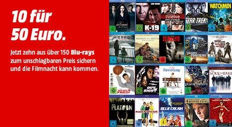 [Mediamarkt] Aktion..10 BluRays für 50,-€ bei Filiallieferung oder direkt im Markt