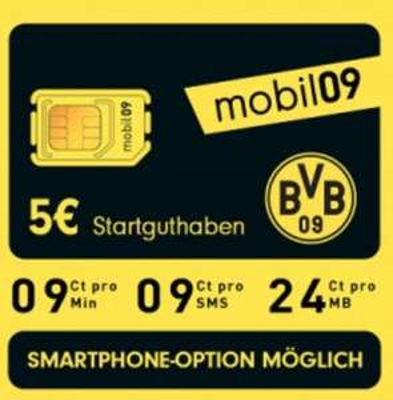 (Handyflash @ eBay) BVB mobil09 Prepaid SIM Telekom Netz mit 5 € Guthaben für 1€