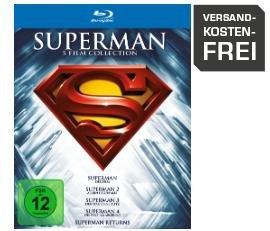 Superman 1-5 Die Spielfilm Collection (Blu-ray) für 12,99€ bei Saturn& Amazon