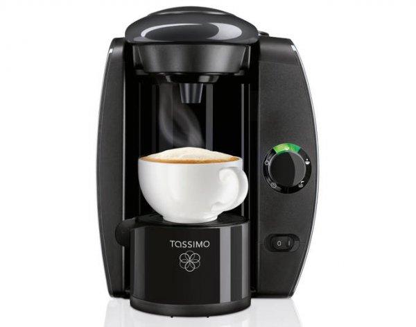 TASSIMO T4, Heißgetränkemaschine, 1300W, Kaffeemaschine, Kapsel Maschine, anthrazit für 27,95€ inkl VSK @AYN