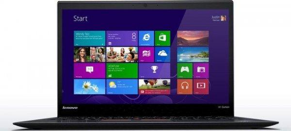 Lenovo ThinkPad X1 Carbon, Core i5-5200U, 4GB RAM, 128GB SSD, beleuchtete Tastatur, 14 Zoll Full-HD, 1,3kg für 1.309,70€ bei Lenovo.de