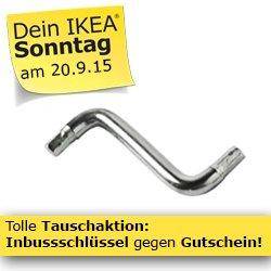 [LOKAL] IKEA Wallau und Frankfurt 10 € Gutschein für Inbus Schlüssel am 20.09.2015