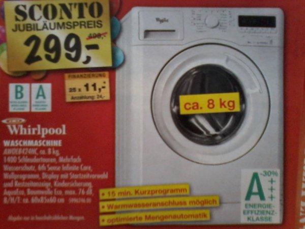 Whirlpool AWOE 8424 HC Waschmaschine   8 KG   A+++   1400 UpM  ((SCONTO))   299€