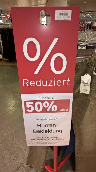 [Bundesweit offline] Karstadt 50% auf reduzierte Kleidung, Schuhe und Sportartikel! nur bis 29.08.