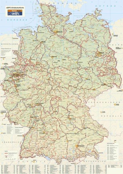 ??? Gratis Faltkarte und Broschüre über Deutschlands Radfernwege ?•??•?