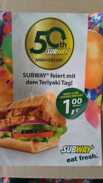 [Hessen] Frankfurt Hessen Center Subway Chicken Teriyaki 1€