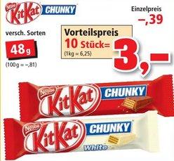[THOMAS PHILIPPS] 10x Kitkat Chunky und Chunky White 48g für 3,00€