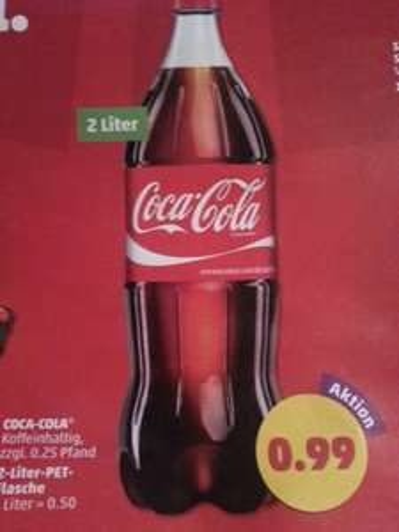 Coca-Cola 2 Liter Flasche 0,99 € @ Penny
