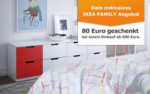 Bundesweit: IKEA 80 EUR Gutschein bei Einkauf 600 EUR Schlafzimmer oder 40 EUR bei 300 EUR Einkauf Badezimmer plus kostenlos Kaffee