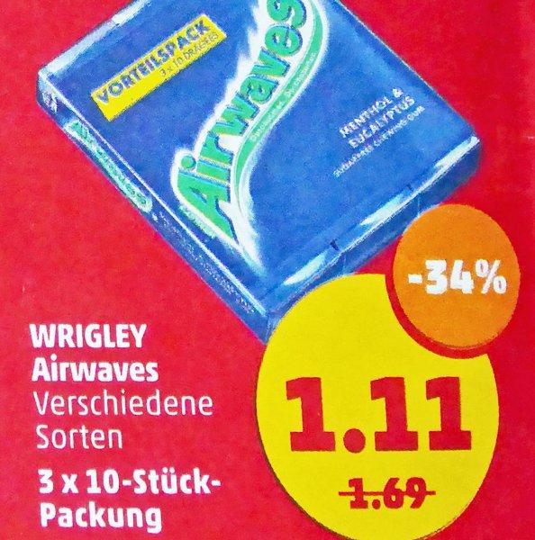 3x10 Airwaves Vorteilspack für 1,11€ (0,37€ pro Packung) bei [Penny]