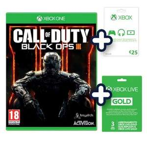 [Lokal ITALIEN online] Call of duty: Black ops III + 25€Giftcard + 3 Monate Gold XBoxOne / PS4