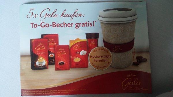 5 Gala Kaffee Produkte kaufen, 1 To-Go-Becher (Porzellan) gratis
