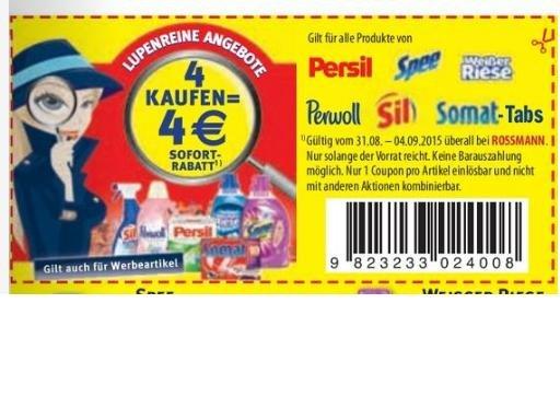 Rossmann: 4 Henkel Aktionsprodukte kaufen, 4€ Rabatt (31.8 -4-9.2015)
