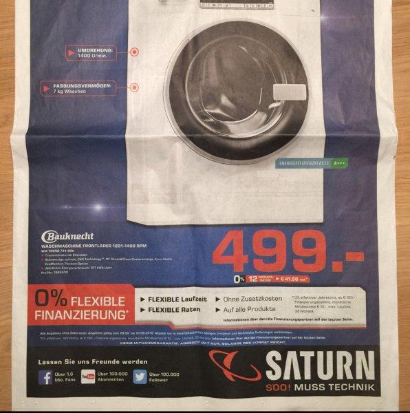 [lokal] Bauknecht Waschmaschine WM Trend 724 Zen für 499€ @ Saturn Pforzheim